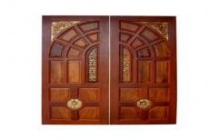 Brown Teak Wood Double Door, Size/Dimension: 8 Feet X 4 Feet