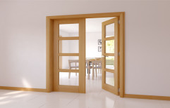 Frosted Glass French Door