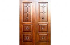 Solid Burma Teak Wood Door by Plasopack Industries