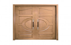 Standard Teak Wood Double Door by Aamin Designe Door