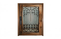 Wooden Safety Door Designs For Homes  by Om Sai