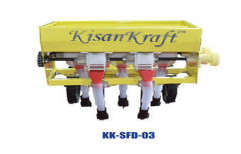3 Row Seed Cum Fertilizer Drill by Kisankraft  Limited