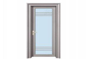Aluminium Bathroom Swing Door by Sri Sai Enter Aluminum Fabrication