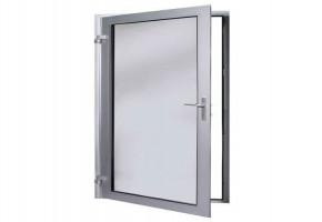 Aluminum Glass Bathroom Door by KMR Ares