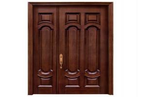 Fancy Teak Wood Double Door by Noor Traders
