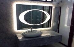 llluminated Bathroom LED Mirror by Rana Aluminium & Pvc