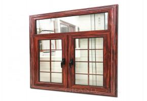Light Brown Oak Wood Window