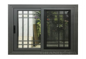 Sliding Window Designs With Grills   by SMP Interior