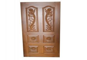 Teak Wood Carving Door by Sri Venkateswara Timbers & Furniture