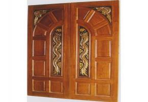 Teak Wood Double Door  Design by Melamine Door