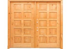 Teak Wood Double Doors by Saleem Windows