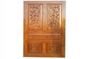 Teakwood Main Door First Quality by Subashree Furniture