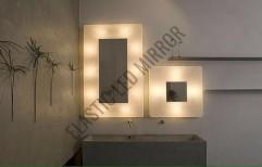 Illuminated LED Square Mirror by Rana Aluminium & Pvc