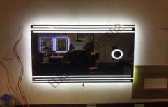 Illuminated Magnifier Mirror by Rana Aluminium & Pvc