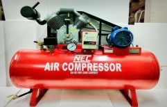 Single Phase Crompton Motor 3HP Air Compressor by National Equipment Company