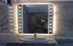 Square LED Mirror by Rana Aluminium & Pvc