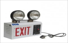 Twin Beam Emergency Exit Lights by SPJ Solar Technology Private Limited