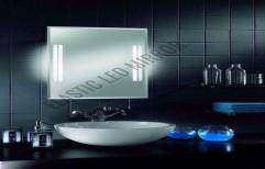 Fancy Mirror with LED Lights by Rana Aluminium & Pvc