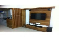 Customized LED TV Unit by Ajariya Associates