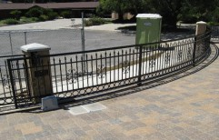 Automatic Curved Sliding Gates by Sly Enterprises