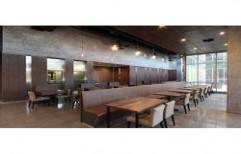 Restaurant Wooden Dining Table Set by Ajariya Associates