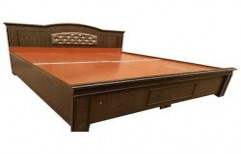 Wooden Double Bed by Ajariya Associates