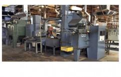 Airless 2 Wheel Shot Peening Machine by National Enterprises