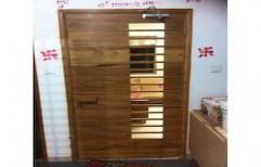 Automatic Wooden Door by Ajariya Associates