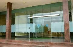 Frameless Glass Door by A Square Associates