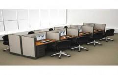 Customized Computer Workstation Table by Ajariya Associates