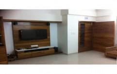 Wooden LCD TV Unit by Ajariya Associates