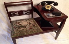 Antique Telephone Table with Seat by Hemant Interiors (A Unit Of Hemant UPVC Doors & Windows)