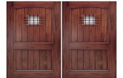 Solid Wood Panel Door by Jay Majisa Furniture Contractor Works