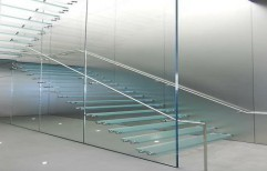 Glass Staircase by Vir Krupa Engineers