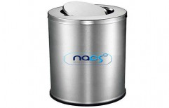 Stainless Steel Swing Lid Type Dustbin by NACS India