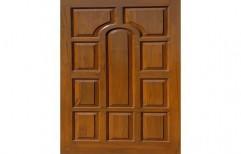 Brown Teak Wood Carved Door