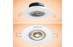6W Solitaire Cob LED Downlight Round (With Lens) by Lakshmi Corporations