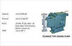 Plunger Type Dosing Pump by Vir Krupa Engineers