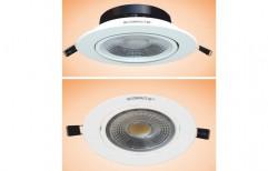 10W Electronic L.E.D. DriSolitaire Cob LED Round (with Lens) by Lakshmi Corporations