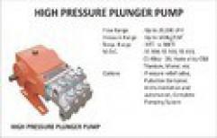 High Pressure Plunger Pump by Vir Krupa Engineers
