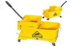 Single Bucket Mop Wringer Trolley by NACS India