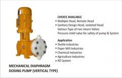 Mechanical Diaphragm Dosing Pump Vertical Type by Vir Krupa Engineers