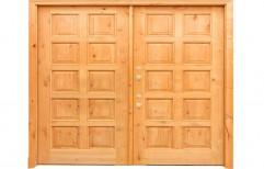 Double Panel Wooden Teak Double Door  by Deccan Doors