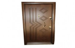 Brown Polished Membrane Door for Home