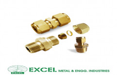 Brass Male Connector by Excel Metal & Engg Industries