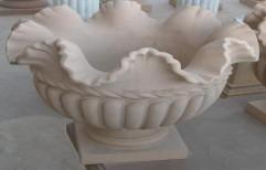 Stone Flower Pot by Priyanka Construction