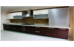 Straight Modular Kitchen by Archstone Home Interiors