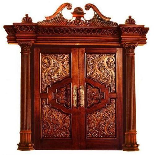 Wooden Double Door by K.S. Wood Work