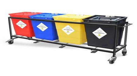 Bio Medical Waste Trolley by Saif Care