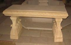Sandstone Bench by Priyanka Construction